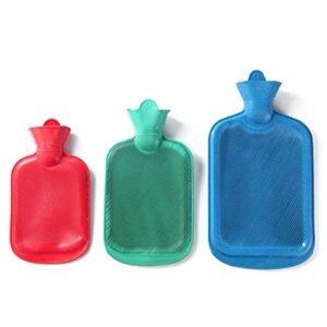 Bouteille d'eau chaude Couleur solide épaisseur PVC en caoutchouc de silicone en PVC Bouteille d'eau chaude irrigation chauffe-mains portable épaisse bouteille d'eau chaude ( Color : S (26x14cm) )