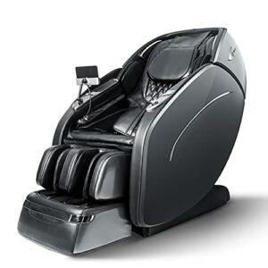 Chaise de massage SUFUL M8, fauteuil inclinable de massage Shiatsu à gravité zéro pour tout le corps, chauffage du corps entier en fibre de carbone, fonction musicale Bluetooth (Gris foncé)