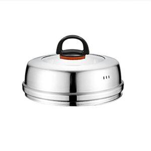 Combinaison de verre trempé visible de couverture en acier sans couvercle de casserole électrique chaude chaude chaude chaude chaude viape chauffante chapeaux wok lid12-14in (Size : B)