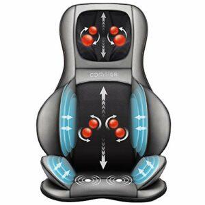 COMFIER Siège Massant Shiatsu pour Dos & Cou – Masseur de Dos Complet à pétrir 2D / 3D avec Chaleur et Compresse réglable, fauteuil massant pour hanche/nuque/dos, Masseur Complet du Corps