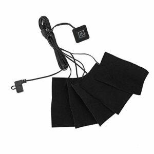 Coussin Chauffant en Tissu électrique USB, Chauffage en Tissu Imperméable en Fibre de Carbone à Température Réglable en 3 équipes, Coussin Lavable pour le Chauffage de l'abdomen du Cou