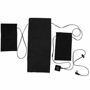 Coussin Chauffant pour vêtements USB 3 en 1 Tissu Chauffant réglage Intelligent de la température Coussin Chauffant électrique pour Gilet de vêtements