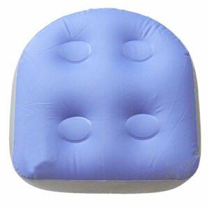 Coussin de bain pour le dos – Coussin de spa avec ventouses puissantes – Tapis de massage doux et gonflable – Pour adultes et enfants