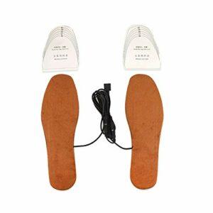 Coussin de chaussures chauffantes chauffantes à usage recyclé de chauffage USB rapide et uniforme pour les travailleurs de l'informatique sur les hivers froids pour(red, Women's)