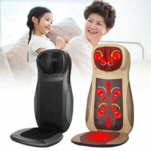 Coussin de massage réglable pour la nuque et le dos – 3 vitesses – Avec fonction chauffante – Noir