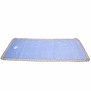 Coussin de table de massage professionnel, équipement pratique, housse de protection pour table de massage, spa, massage, couette avec trou pour Beauty Shop Coral Velvet [Bleu]