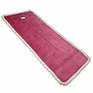 Coussin de table de massage professionnel, équipement pratique, housse de protection pour table de massage, spa, massage, couverture avec trou pour Beauty Shop Coral Velvet [Rouge]