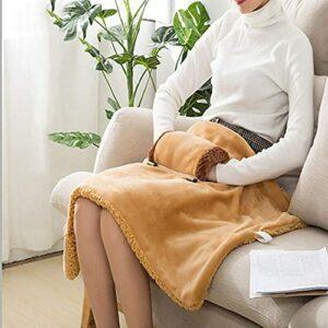 Couverture électrique USB, couverture chauffante électrique 60x80cm Couverture électrique en peluche douce et confortable, lavable en machine, coussin chauffant électrique thérapeutique, couvertu