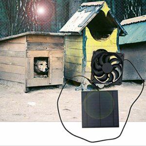 Demeras Ventilateur de Panneau Solaire, Panneau Solaire respectueux de l'environnement avec Ventilateur 6V Silicium monocristallin alimenté à l'énergie Solaire pour Le Refroidissement de chenil de