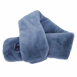Écharpe chauffante, écharpe chauffante électrique USB chauffe-cou chauffe-cou chauffant avec 3 vitesses de chauffage pour hommes et femmes(bleu)