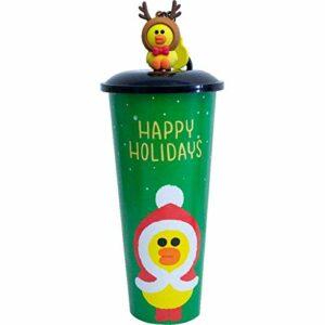 enemy Coupe Cartoon Noël, Bouteille d'eau Douce Mignon for Les Enfants Filles garçons de Noël de fête d'anniversaire à thème (Color : Green)