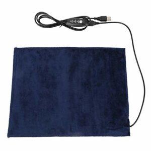 EVTSCAN dernier Coussin Chauffant 5V2A USB élément Chauffant en Tissu électrique Coussin Chauffant pour siège de vêtements Chauffe-Animaux 24×30 cm 45 ℃