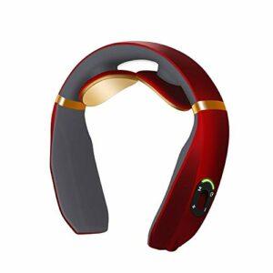 Faus Koco Appareil de massage du cou sans fil 3D pour le cou, appareil de massage du cou électrique avec fonction chauffante, modèle de batterie (couleur : modèle à pile)