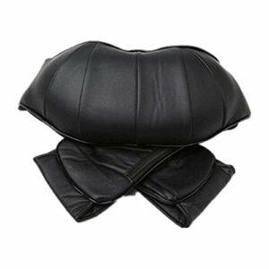 Faus Koco Masseur pour le cou et le dos avec chaleur et massage profond pour le cou, le dos, les épaules, les pieds et les jambes, utilisation à la maison, en voiture, au bureau (couleur : noir)