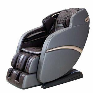 Fauteuil de massage SUFUL-S6, massage du corps entier avec haut-parleur Bluetooth, zéro gravité, canapé de massage relaxant peu encombrant, divers programmes (Gray-Brown)