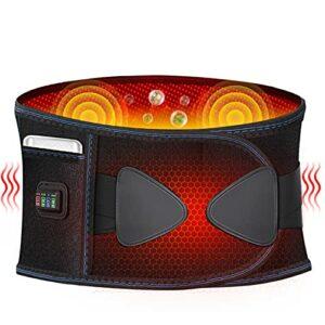 FBK Ceinture Chauffante Lombaire Électrique avec Fonction de Vibration avec 3 réglages de température avec Fonction de chronométrage Ceinture Maintien Abdominale Electrique