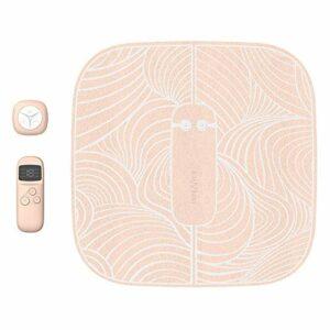FBK EMS Massage des Pieds Tapis de Massage pour Pieds pour pétrir Le Veau Soulager Les Muscles fatigués et la fasciite Plantaire 6 Modes de Massage et 15 intensités réglables