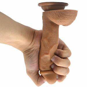 Gōdmichẹt pōúr Fẹmmẹ Adúltẹ, Enorme surdimensionné Super Soft Long Design Ergonomique Rod Silicone |Longueur Totale: 6.88 Pouces / 17,5 cm Anāl CLP0524