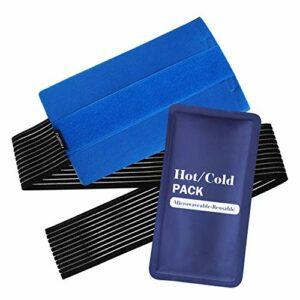 Healifty Gel chaud et froid – Réutilisable – Pour les blessures aux épaules, aux genoux, aux hanches et au dos – Compresse chaude et froide contre les affaiblies.