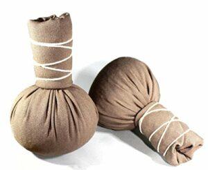 Herbal Selection Lot de 4 tampons à herbes 75 g Marron Compress Ball Soulagement des tensions musculaires