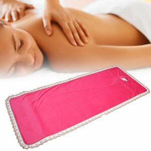 Housse de protection pour table de massage professionnelle, avec trou pour Beauty Shop Coral Velvet (Rose)
