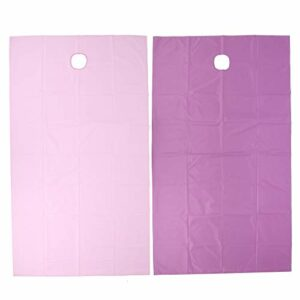 Housse de Table de Massage, Drap de Lit pour Salon de Beauté Respirant avec Trou pour le Visage, Feuille D'absorption D'humidité Imperméable à L'huile(violet + rose)