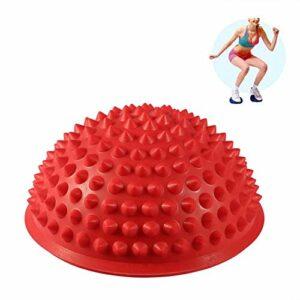 jadenzhou Balle de Massage Demi-Ronde, balles de Yoga en matériau Haut de Gamme, Relaxation Musculaire pour Massage partiel Massage à Domicile Massage Musculaire(Red)