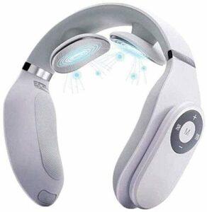 LG Snow LKNJLL Intelligent Nuque à Massage Fonction de Chauffage, sans Fil Équipement de Massage du Cou Voyage 3D, Chargement USB, Facile à Transporter, Blanc