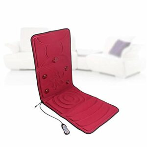 LG Snow Shiatsu massage du dos Fauteuil de massage avec la chaleur, Deep Tissue Pétrin Rouleaux, Coussin Vibration, hauteur du cou réglable – Relax cou épaule muscles du dos et de la hanche, Rouge (Co