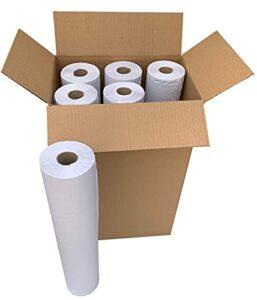 Lot de 6 rouleaux de papier de table recyclé prédécoupé et doux pour centres de massage, santé, esthétique ou physiothérapie