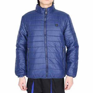 Manteau chauffant intelligent à chauffage rapide en 5 secondes, veste chauffante à froid et antigel à performance stable lavable, charge USB pour hommes hiver(L)