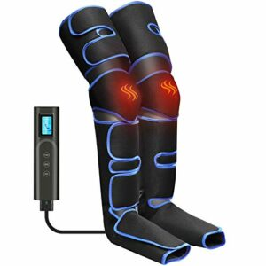 Masseur de Jambes Appareil de Massage Jambes Pieds Circulation Electrique rechargeable par USB,6 modes 3 intensités la relaxation Pieds de mollet Cuisse
