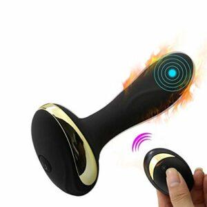 Masseur électrique rechargeable avec 10 vitesses et modes de vibration multiples, télécommande sans fil, masseur personnel pour massage des tissus profonds, étanche et silencieux