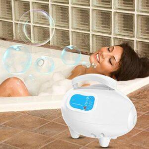 Meiyya Masseur de Baignoire à Bulles, Tapis de Massage à Bulles imperméable avec Tuyau d'air pour Les Personnes à la Maison(220V European Standard, Pink)