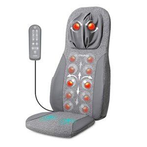Naipo Tapis de massage Coussin de massage Shiatsu Masseur dorsal Masseur électrique avec fonction de chaleur et massage par vibration, massage des tissus profonds