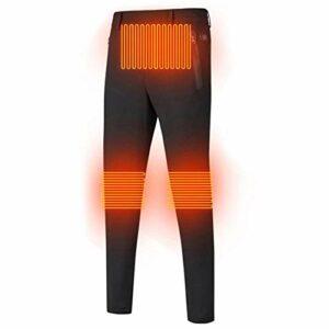 Pantalon chauffant électrique avec chargement USB pour homme et femme en nylon résistant