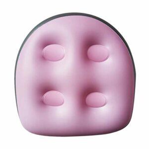 POHOVE Siège rehausseur pour spa et jacuzzi avec ventouses, tapis de massage gonflable pour tous les spas et jacuzzi, 40 x 37 x 15 cm (rose, taille : 2 pièces)
