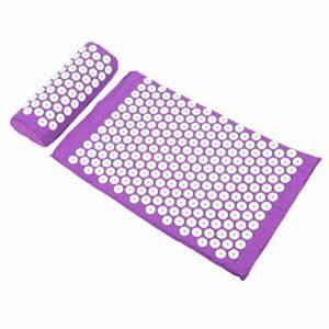 Qqmora Oreiller de Massage Tapis de Massage d'acupression Tapis de Massage pour la Relaxion pour améliorer la rigidité du Corps à Usage Domestique pour favoriser la Circulation(Purple)