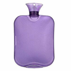 Sac de Bouteille de Bouteille d'eau Chaude Transparente Sac à Eau Chaude Haute densité en PVC pour Soins de santé hivernaux (Color : Purple)