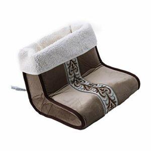 SDENSHI Chauffe-Pieds électrique et Machine de Massage avec Télécommande pour Portable Unisexe – Brun
