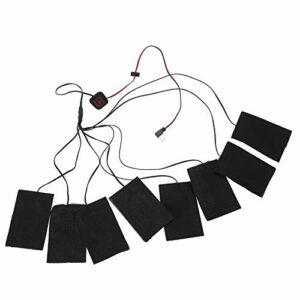 SHYEKYO Tissu Chauffant USB 8-en-1 vêtements de Chauffage en Fiber de métal Chaud vêtements de Chauffage Pliables électriques pour l'hiver Froid