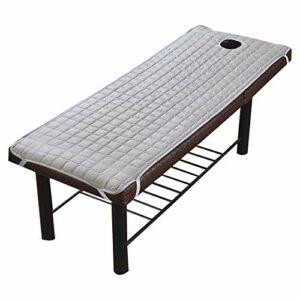 Souarts Drap de lit Housse Spa Massage Traitement Table de lit Table de Massage Pliante Professionnelle Cosmétique Portable Lit Table de beauté