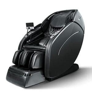 SUFUL M8 Fauteuil de Massage Siège de Massage inclinable Shiatsu Masseur du Corps Entier avec Fonction de Chaleur USB, Bluetooth (Gray Brown)
