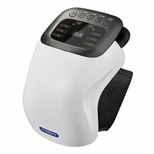 SUYUDD Masseur de Genou, Machine de Massage de thérapie vibrante magnétique chauffée par Infrarouge, attelle d'enveloppe Rechargeable pour réchauffer l'épaule du coude du Genou