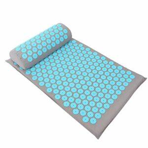 Tapis de yoga sûr de 68 x 42 cm pour améliorer la rigidité et la fatigue du corps pour plusieurs parties du corps pour améliorer la qualité(Light gray sky blue buckle)
