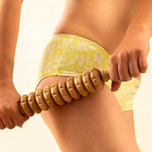 Tuuli Accessories Anti Cellulite Masseur Rouleau de Massage Appareil de Disque Maderothérapie Bois