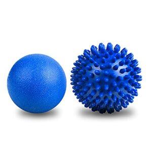 URAQT Balle de Massage, 2PCS Boules de Massage, Spiky pour le Massage des Tissus Profonds du Dos, Boule D'exercice Massage de Trigger Point Pour Détendre en Profondeur des Points de Tension
