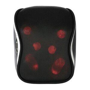Uxsiya Coussin de Masseur de pétrissage des Tissus Profonds Chauds Coussin de Massage Shiatsu Coussin de Masseur de Chaleur pour(European Standard 220V)