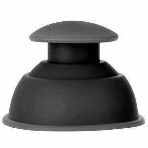 Ventouses en silicone, ensemble de ventouses durables, facile à nettoyer, bureau de salle de repos facile à utiliser pour la maison(black)