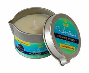 Vibratissimo Bougie de Massage à la Vanille Arôme